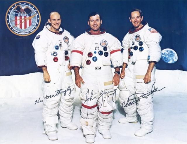 Autopen - Equipage Apollo 16 (Mattingly - Young - Duke) Apollo14