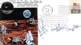 """Enchères : """"Objectif Lune"""" d'Hergé signé par l'équipage d'Apollo 11 ! Apollo29"""