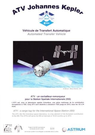 Enveloppe ayant voyagé à bord de l'ATV-2 Johannes Kepler, de l'ISS et de la navette Atlantis / STS-135  Atv_2_10