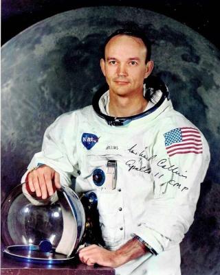 """Enchères : """"Objectif Lune"""" d'Hergé signé par l'équipage d'Apollo 11 ! Collin11"""