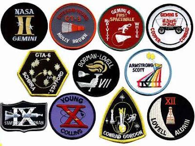 Les patches des programmes Mercury et Gemini Gemini10