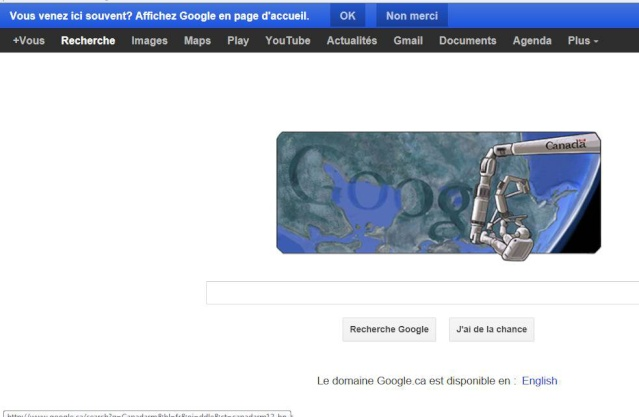 Google.ca commémore Canadarm Google10