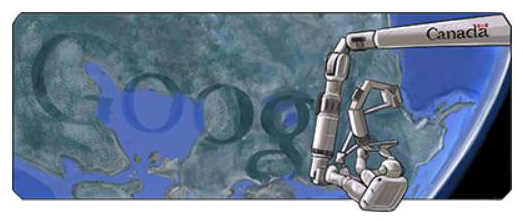 Google.ca commémore Canadarm Google11