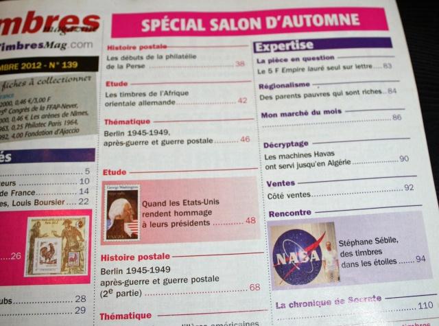 Timbres Magazine - Astrophilatélie et Apollo 11 - Numéro de novembre 2012 Img_2314
