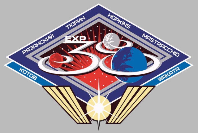 Expedition 38 - Logo et photo d'équipage Iss38_10