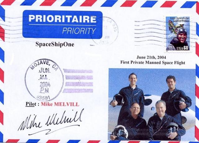 L'épopée de SpaceShipOne en astrophilatélie Spaces10