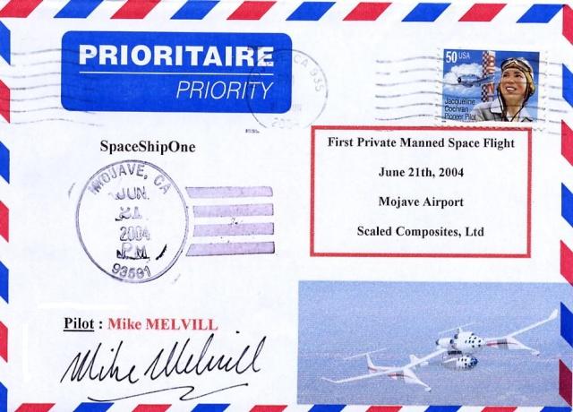 L'épopée de SpaceShipOne en astrophilatélie Spaces11