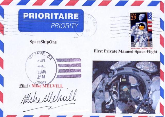 L'épopée de SpaceShipOne en astrophilatélie Spaces12
