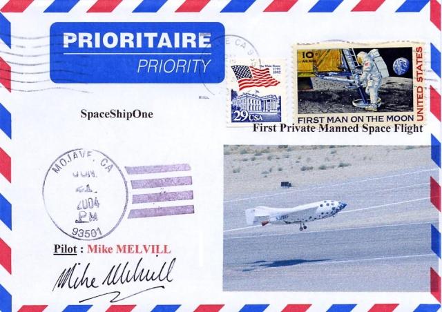 L'épopée de SpaceShipOne en astrophilatélie Spaces13