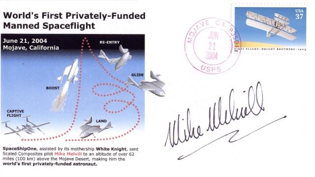 L'épopée de SpaceShipOne en astrophilatélie Spaces14