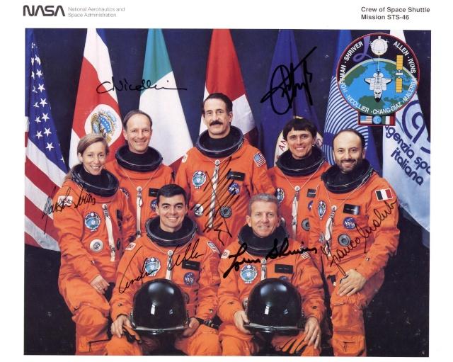 STS-46 - 20ème anniversaire - Franco Malerba devient le premier Italien dans l'espace Sts-4610