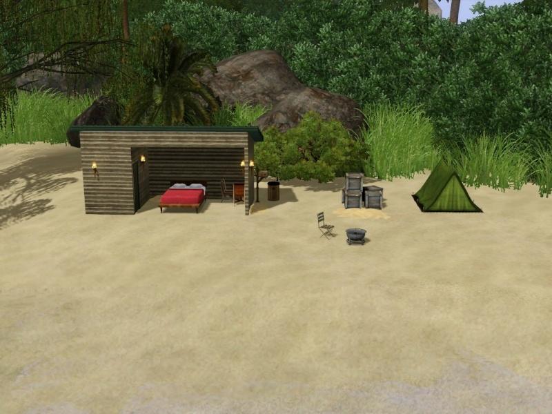 [Challenge sims 3] L'île Perdue Camp10