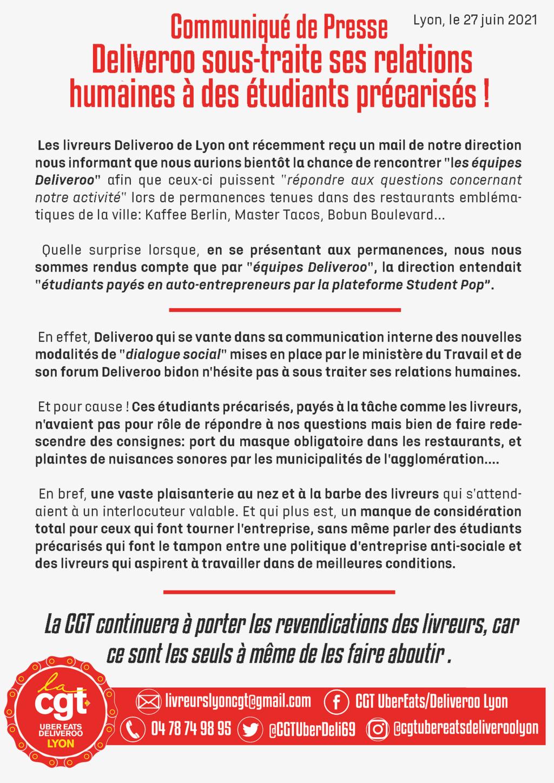 Le premier syndicat des livreurs de plateformes créé à  Paris !  Deliveroo, Uber Eats... Commun10