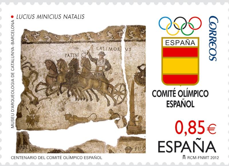 Timbre Espagne - Centenaire du Comité Olympique Espagnol 20120610