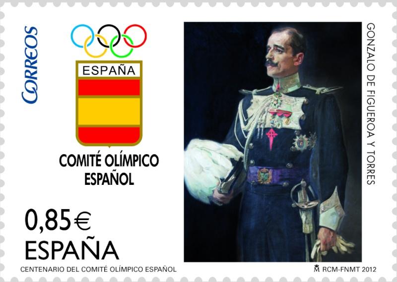 Timbre Espagne - Centenaire du Comité Olympique Espagnol 20120611