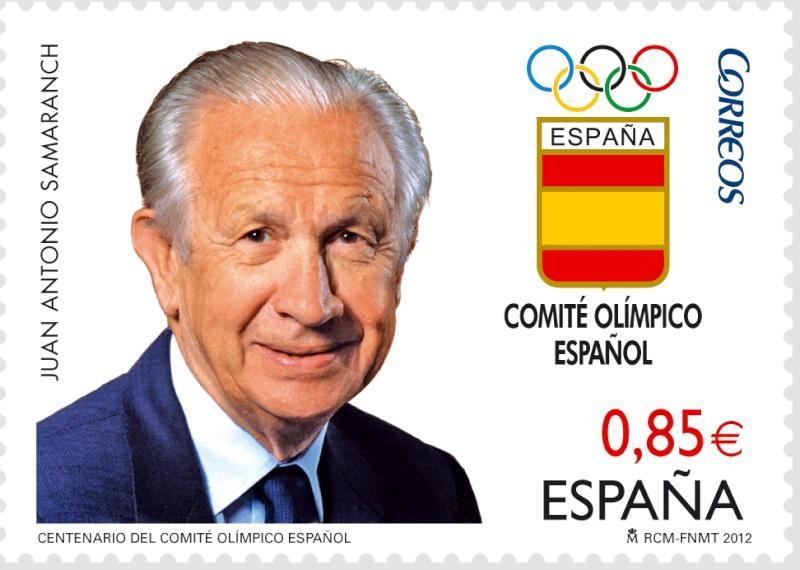 Timbre Espagne - Centenaire du Comité Olympique Espagnol 20120612