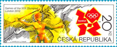 Timbre République Tchèque - Jeux Olympiques de Londres 2012 (Athlétisme) 21887_10