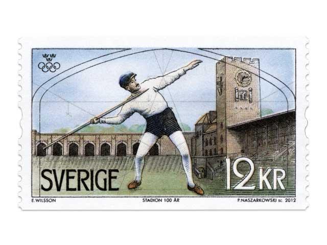 Timbre Suède - Jeux Olympiques de Stockholm 1912 & Champions olympiques suédois 24236210