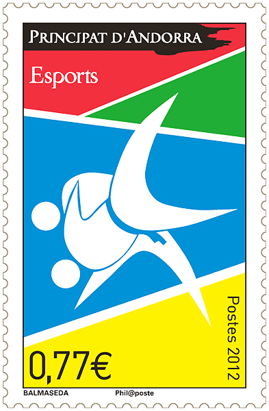 Timbre Andorre - Jeux Olympiques de Londres 2012 ?? (Judo) An_esp10