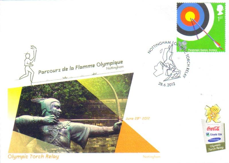 Programme des oblitérations pour les JO de Londres 2012 Jo201213