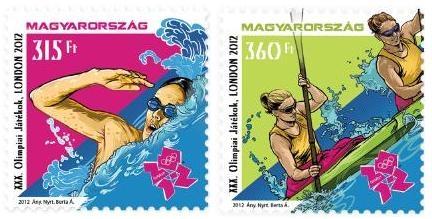 Timbre Hongrie - Jeux Olympiques de Londres 2012 (Natation et Kayak) Object10