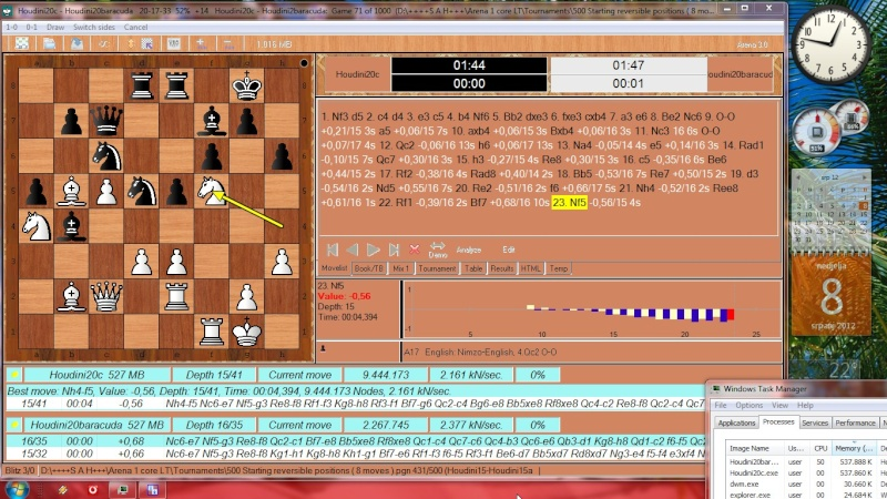 Houdini20c - Houdini2baracuda 1000 games started Slika211