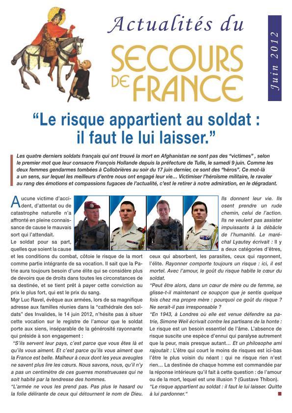 """""""Le risque appartient au soldat, il faut le lui laisser"""" 2012_011"""