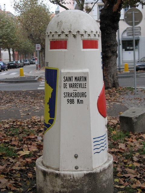 Borne du serment de Koufra: STRASBOURG Strasb13