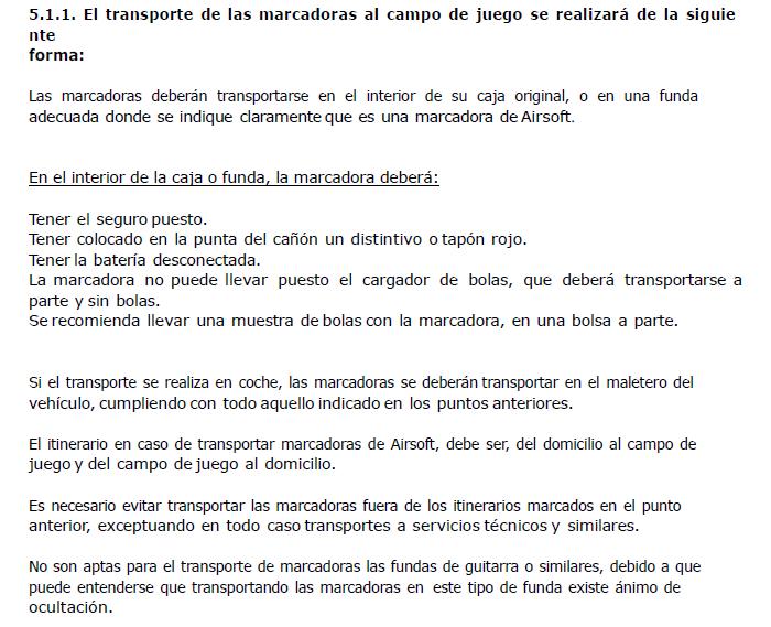 Como se transportan las replicas legalmente. Transp10
