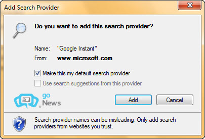 Đặt Google Instant làm bộ máy tìm kiếm cho trình duyệt 0bbc8810