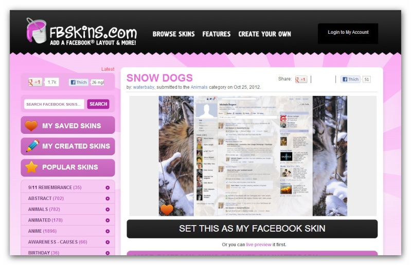 Facebook: Trang Trí Profile bằng ứng dụng Social Extras Ashamp35
