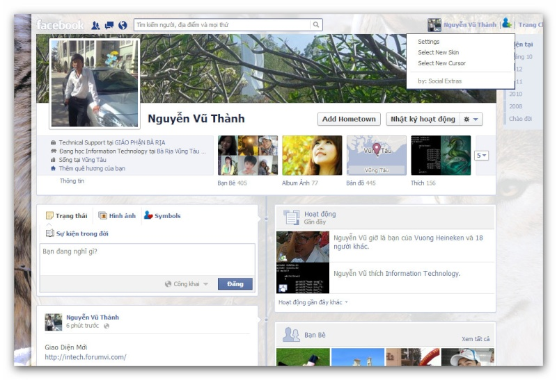 Facebook: Trang Trí Profile bằng ứng dụng Social Extras Ashamp38