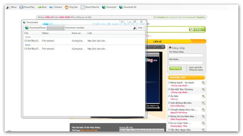 Zing Karaoke Offline bản Beta. Ashamp75