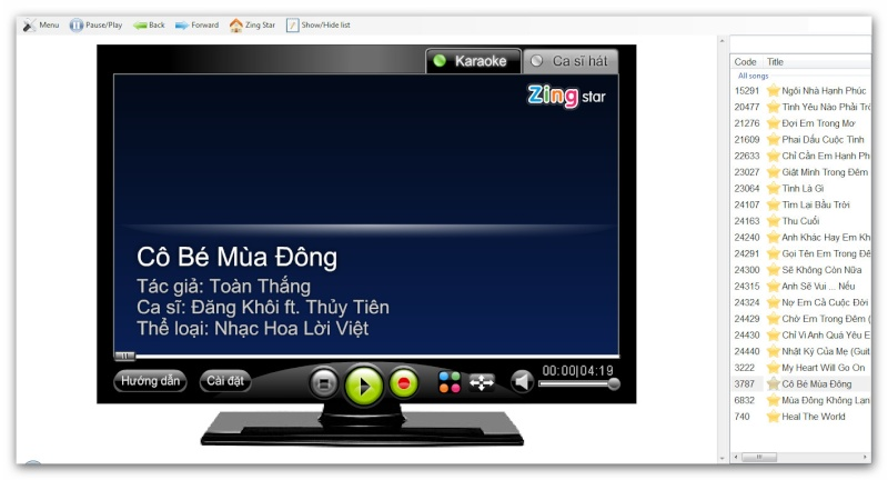 Zing Karaoke Offline bản Beta. Ashamp76