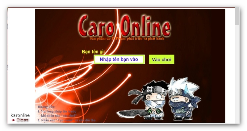 Code Game Caro cho forum. Ashamp88