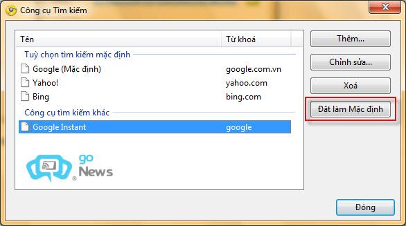 Đặt Google Instant làm bộ máy tìm kiếm cho trình duyệt Dfc58d10