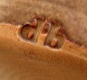 Beehive-shaped vase (No1) - Do Burgess?  Stamp12