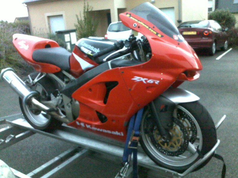Mon ZX6R 2002 en version piste 25092011