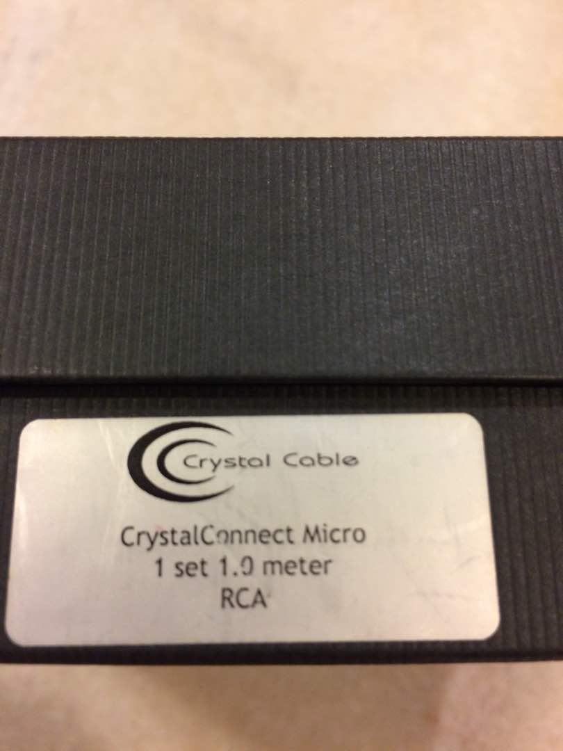 Crystal Cable CrystalConnect Micro 1m RCA 1 set Img-2013