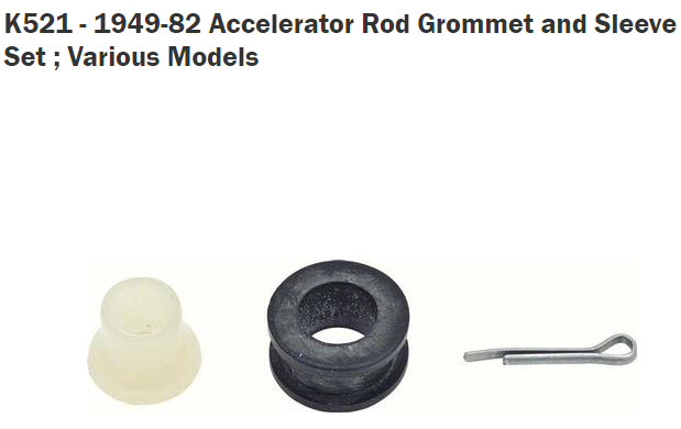 Can't find Accelerator Rod Grommets Carb_l10