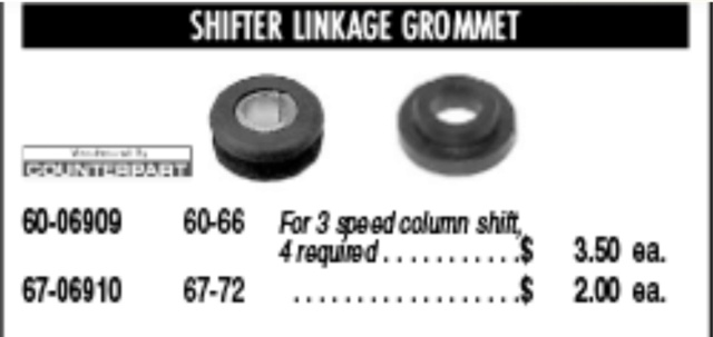 Can't find Accelerator Rod Grommets Shifte11