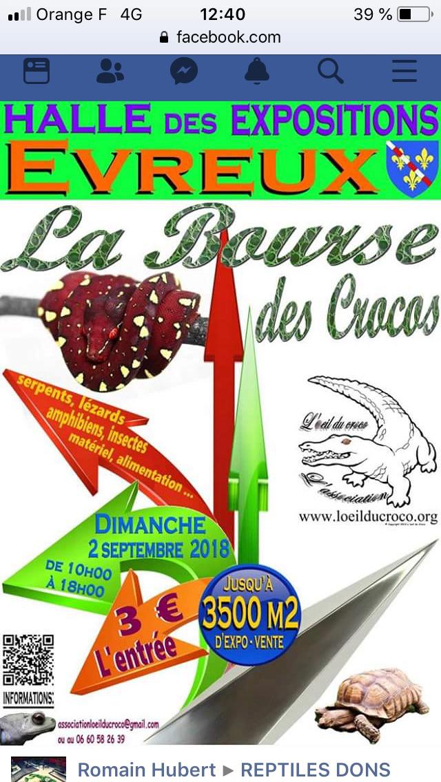 Bourse des crocos Evreux 2 septembre 2018 1d628d10