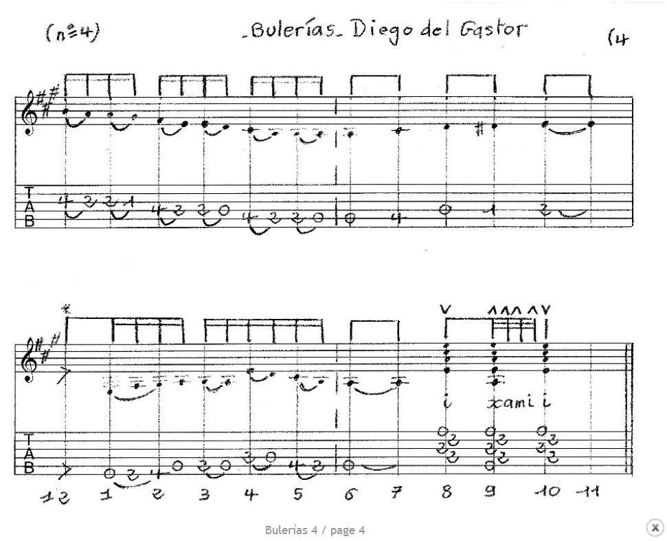 Suite tab Buleria de Diego Del Gastor. Buleri13