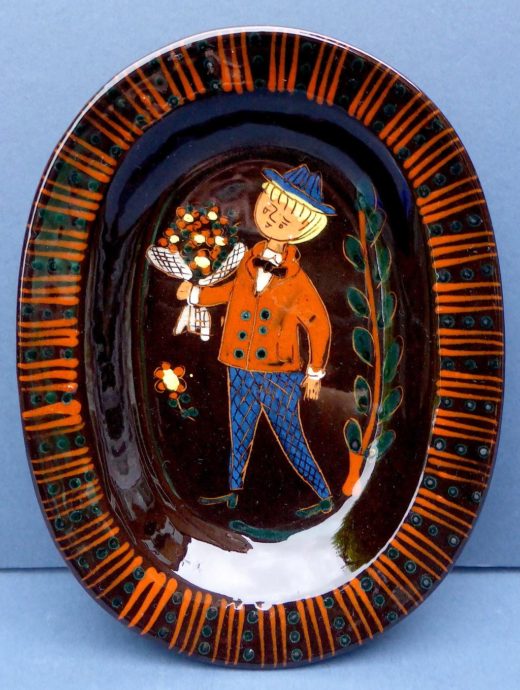 Attractive Sgraffito Slipware Dish - Thoune, Switzerland  P1440311