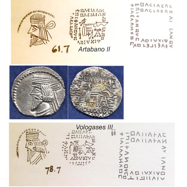 Dracma parto de Pakoros I ( Vologases III ). Artaba10