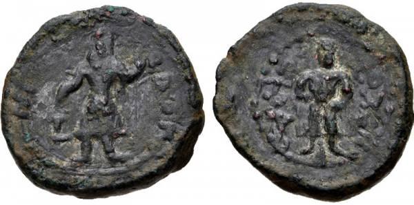 ¼ Unidad. Kanishka I, Imperio Kushan.  Kanish11