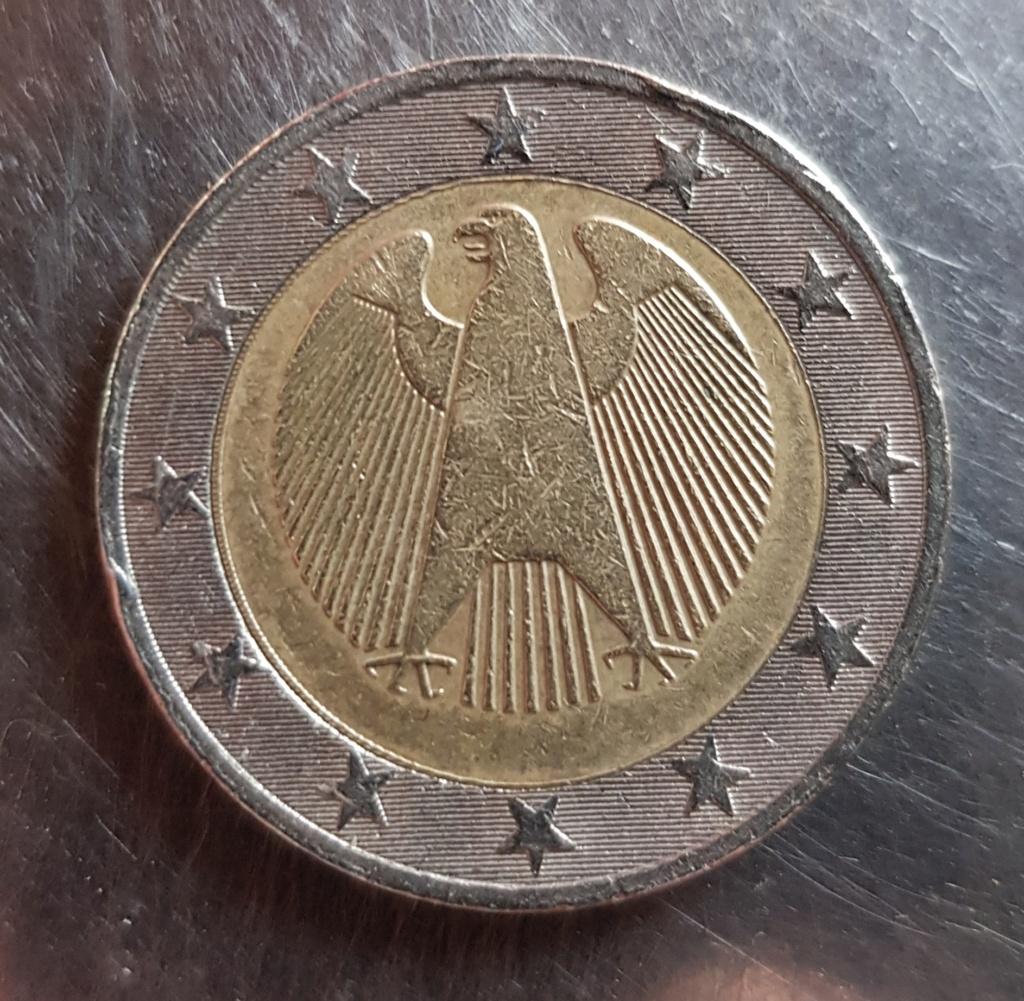 2 Euros Alemania ¿año?, ¿ceca?, ¿estrellas giradas? 20191215