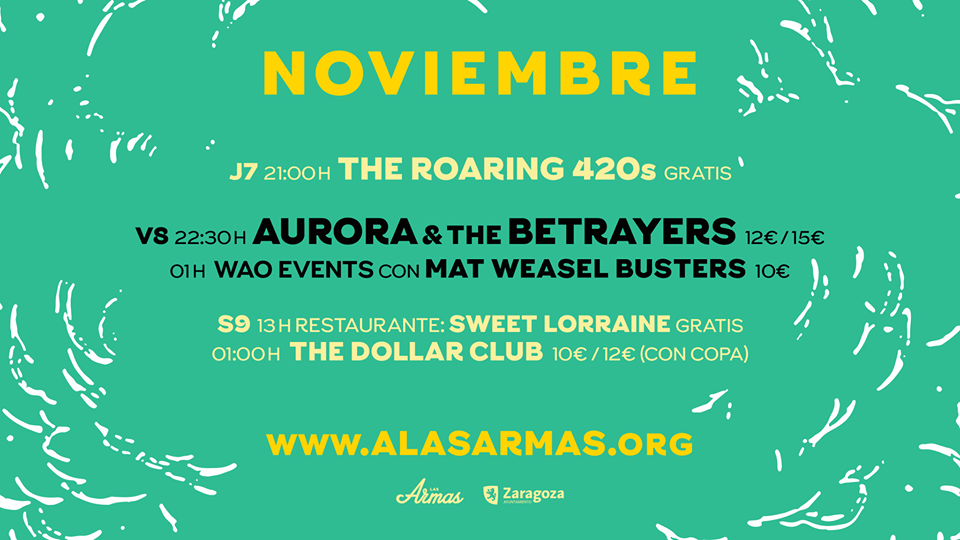 THE ROARING 420s ☆ En gira noviembre 2019 Cartel12