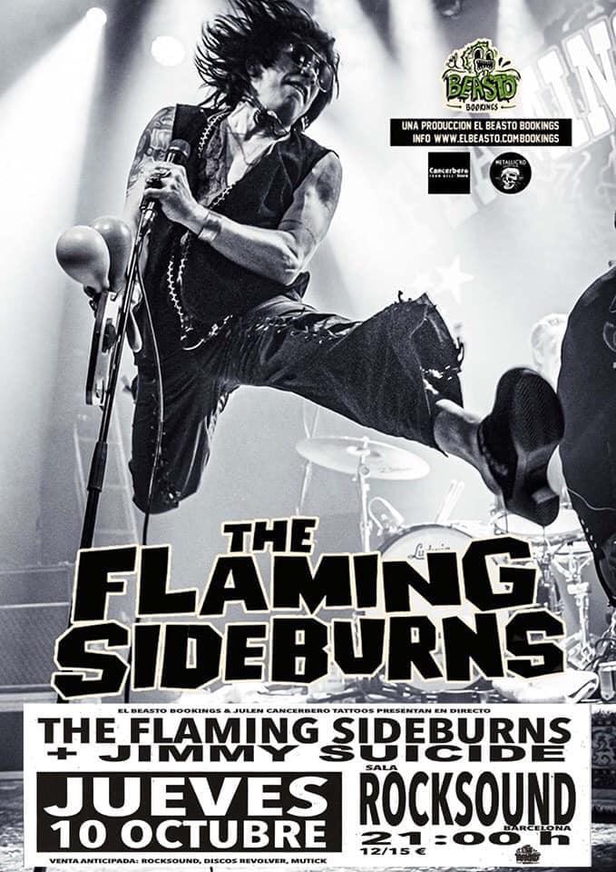 THE FLAMING SIDEBURNS ☆ En gira octubre 2019 Cartel44