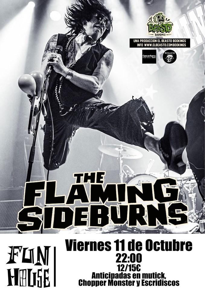 THE FLAMING SIDEBURNS ☆ En gira octubre 2019 Cartel45